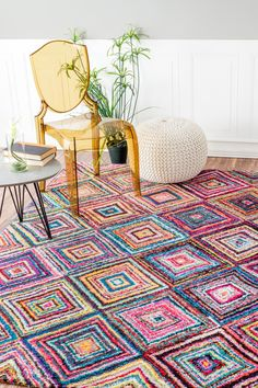 Jenise Squares Rug - Multi by nuLOOM on @HauteLook