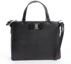 Salvatore Ferragamo Black Leather Convertible Mini Satchel on shopstyle.com