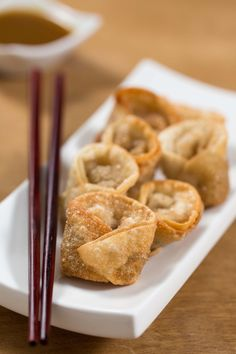 Fried Cabbage Wontons: crunchy on the outside, a savory cabbage filling, and a delicious honey-soy dipping sauce!