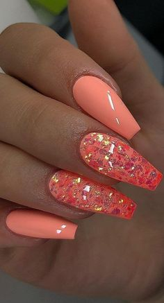 56 Cute and Cool Summer Nails Designs Ideas and Images Part 46 Cute Summer nails Summer nails Designs Summer Nail polish Summer Nail Colors Bright Summer Nails, Cute Summer Nails, Bright Orange Nails, Bright Colored Nails, Summer Toenails, Dope Nails, Swag Nails, Stylish Nails, Trendy Nails