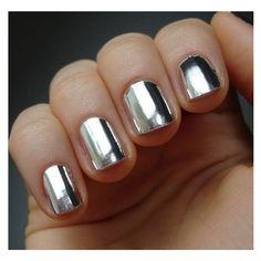 Metallic Gold / Metallic Silver Nail Foils / Nail Wraps / LIMITED... ($8) ❤ liked on Polyvore featuring beauty products, nail care, nail treatments, nails, makeup, beauty, nail polish and nail art