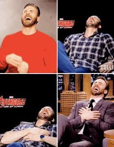 Do you have no sense of your CENTER? You're always falling over when you laugh and trying to hold yourself down. 17 Times Chris Evans Needed To Explain Himself The Avengers, Steve Rogers, Marvel Actors, Marvel Dc, Christopher Evans, Skirt Mini, Chris Evans Captain America, Capt America, Robert Evans