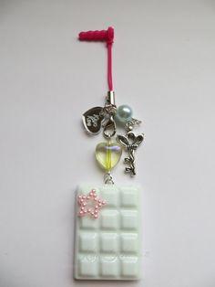 Mint Chocolate Resin Mirror Charm by KiyoKee on Etsy