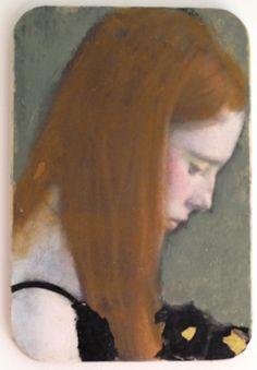 Veronique Paquereau, Elise, Mixed Media op hout, 22x15 cm, €.220,-
