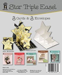 Star Triple Easel Die-Cut Cards by Hot Off The Press Inc (4103437)