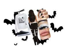 """Halloween"" by hrichards-1 on Polyvore featuring Topshop, Converse, Fallon and Incoco"