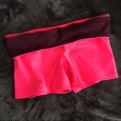"NWOT Neon pink spandex shorts 💕 Very comfy when I tried them on! Brand new and never been worn but missing the price tag and size tag, same material and brand as the striped shorts in my closet. 3 1/2"" inseam, small pocket for a key, waistband can be folded down. The color is accurate in the pictures - bright neon pink with a plum fold over band. Please negotiate through the offer button 😊 American Eagle Outfitters Shorts"