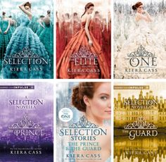 All of Kiera Cass's books and The One book cover!!!! Ahhhh get excited :Disclosure Affiliate link