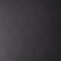 Stone Source: Phenomenon - Nero - Hex - Porcelain Tile