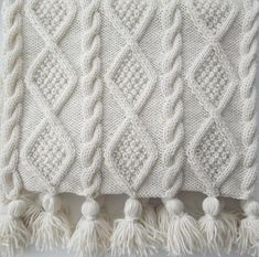 A versatile, original, designer hand knitting pattern for an Aran Cable Scarf in 3 sizes and a stunning Blanket Throw. Four knitting patterns in one.The Braided Cable Beanie Crochet Patter n by Crochet it Creations is a perfect crochet version of a c Knitted Afghans, Knitted Blankets, Knitted Bags, Cable Knitting Patterns, Hand Knitting, Knitting Designs, Knitting Projects, Pull Bebe, Paintbox Yarn