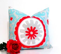 Suzani Square DECORATIVE PILLOW Designer by supplierofdreams