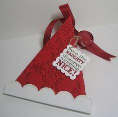 Santa hat triangle box 1