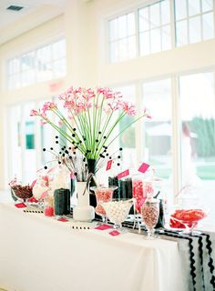 Rhode Island Modern Wedding by Jen Huang Photography Party Decoration, Wedding Decorations, Table Decorations, Wedding Ideas, Wedding Photos, Wedding Details, Candy Table, Candy Buffet, Candy Bar Wedding