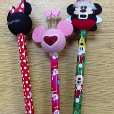 Hot glue a Disney antenna topper to a pencil for an instant pointer.