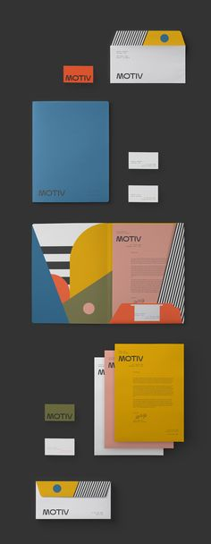 I am obsessed with the color blocking of this brand identity. The designer pulled colors for different aspects of the identity and kept the color palette strong throughout. The logo feels old school without feeling outdated. The addition of the black and white stripes to contrast the color is a lovely touch.