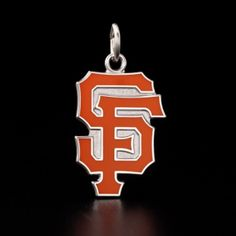 San Francisco Championship Collection - Logo Collection Charm in White Gold with Orange $599
