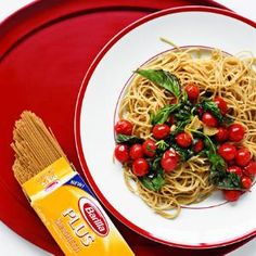 Pasta with Warm Tomatoes and Basil | MyRecipes.com