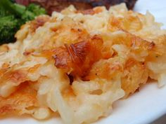 This is one of my favorite casseroles. It is a staple at Cracker Barrel resturants. But the  first time I had it was at a church dinner.