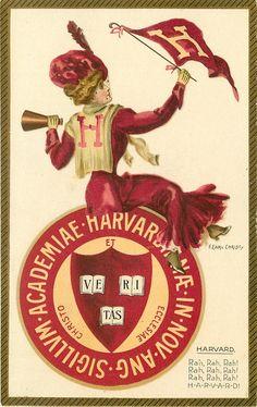 Divided Back Postcard Harvard University Seal College Girls Vintage Images, Vintage Posters, Vintage Art, University Girl, Harvard University, Harvard Students, Railway Posters, New Poster, Vintage Advertisements