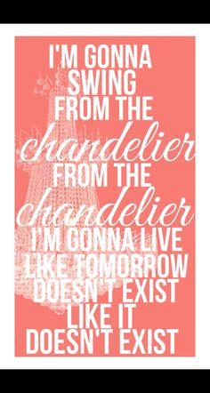 Chandelier lyrics- Sia- 1000 forms of fear