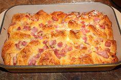 Pull apart cheesy ham biscuits ... yum!