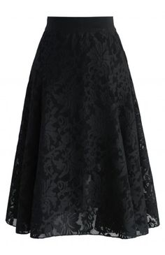 Twirl in a Floral Black Mesh Skirt - Skirt - Bottoms - Retro, Indie and Unique Fashion