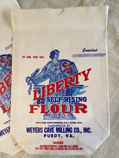 Vintage Flour Bags | 1940's Liberty Flour Bag New Old Stock