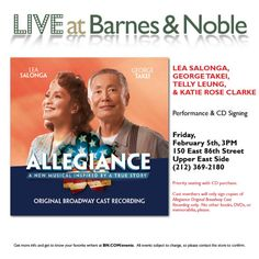 Join us Friday at the Barnes & Noble on East Street in. Join us Friday at the Barnes & Noble on East Street in NYC! Lea George Telly and Katie will sign your brand new cast albums! Lea Salonga, Japanese American, Allegiant, True Stories, Musicals, Funny Pictures, It Cast, Instagram Posts, Join