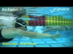 ▶ Breaststroke - Head Position - YouTube on friday of week 1 of vacht14 i was thinking about/being self-concious about a random swimming teacher (young, male, obvs) and realised my head wasn't really in the water so changed my technique to look down- apparently that was right!