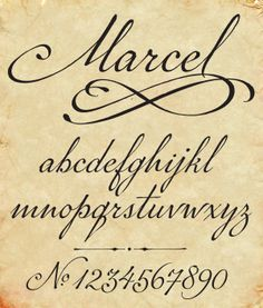Marcel script by Carolyn Porter