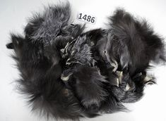 Silver Fox Fur Scraps, Real Fur Pieces, Real Fur Pieces, Fur Offcuts for Craft and Sewing Projects, Genuine Fur Cuts, Fur Trims, Silver Fox
