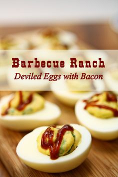 Barbecue Ranch Deviled Eggs with Bacon The Ultimate Pinterest Party, Week 50.
