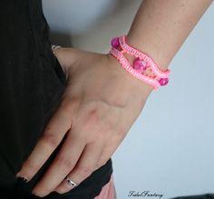 #Pinkbracelet  #onwednesdaywewearpink  #neonpink by TidalFantasy