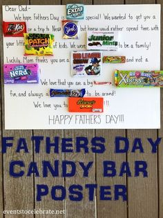 Father's Day Candy Bar Poster – eventstocelebrate… Vatertag Schokoriegel Poster – eventstocelebrate … Easy Father's Day Gifts, Homemade Fathers Day Gifts, Diy Gifts For Dad, Fathers Day Crafts, Good Fathers Day Gifts, Fathers Day Ideas, Dad Crafts, Candy Poster Board, Candy Bar Posters