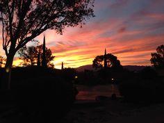 Spectacular sunrise at Canyon Ranch Tucson