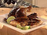 Butterflied Jerk Chicken recipe from Sandra Lee via Food Network Jerk Chicken, Roasted Chicken, Spatchcock Chicken, Chicken Recipes Food Network, Sandra Lee Recipes, Jamaican Jerk Seasoning, Spanish Dishes, Jamaican Recipes, Cooking Recipes