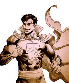 Captain Marvel Jr Sketch by ~ReillyBrown on deviantART