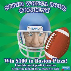 Super Wonga Bowl Contest