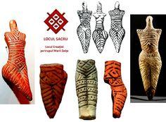 """Încă din zorii eneoliticului european există un simbol, care apare în special in cultura Precucuteni-Cucuteni, fiind utilizat şi în cultura Yangshao. Acesta este poziţionat pe abdomenul reprezentărilor din lut ale Marii Zeiţe - Dăruitoarea vieţii, indicând locul unde se produce miracolul vieţii. Dicționarul lui Palmarchuk și Andriyevskyi, cuprinzând simboluri ale culturii Cucuteni-Tripolia, l-a denumit """"templu"""" Little People, Hand Henna, Hand Tattoos, Short People, Petty People"""