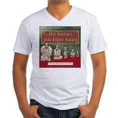 #Maslow s #Bakery Vneck #Tshirt by @LTCartoons #cafepress #humor #psychology #baking #gift #sale