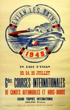 Original Vintage Posters -> Sport Posters -> Speed Boats, Grand Prix 1948 - AntikBar
