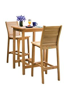 Oxford Garden 3 Piece Dartmoor Shorea Bar Set Natural >>> Click on the image for additional details.(This is an Amazon affiliate link and I receive a commission for the sales)