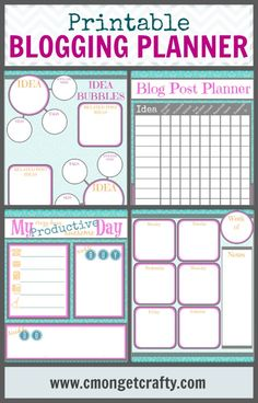 Keeping Organized with My Printable Blogging Planner {and Free Downloads For You!} - C'mon Get Crafty