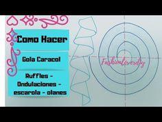 Aprende A Hacer Gola Caracol O Gola espiral/Ruffles/Volantes/Escarola - YouTube Sewing Hacks, Couture, Map, Valance, Design, House, Clothes, Fashion, Couture Details