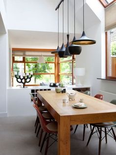 Lampen on pinterest lamps wood lamps and copper lamps for Moderne lamp boven eettafel