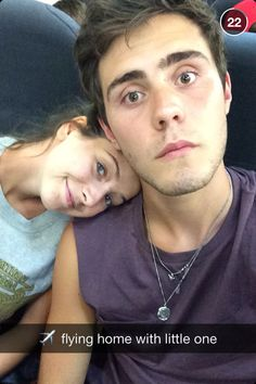 Zalfie (Zoella and Alife Deyes) being cute on a plane, they are relationship goals