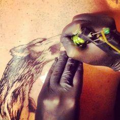 Wolf Tattoo by Jodypig #tattoos #killerink #coverup #blackandgrey #sleeve #unique #art #amazingink #tattooartist #tattooist #tattooer #artistattoos #bright_and_bold #uk #blacktattooart #ink #tattooflash #tattooed #tattoo #blackink #artist #personaltattoos #tattoosleeve #tattooportrait  #superb_tattoo