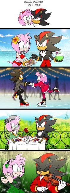 Hedgehog Art, Shadow The Hedgehog, Sonic The Hedgehog, Shadow And Amy, Sonic And Shadow, Shadamy Comics, Sonic Funny, Fantasia Disney, Sonic Fan Characters