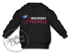 Police Officer's Princess Top - Southern Charm Designs