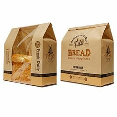 Bread packaging - Astra shop Pack of 30 Kraft Food Packaging Paper Bread Loaf Bakery Bag with Front Window – Bread packaging Baking Packaging, Kraft Packaging, Bread Packaging, Food Packaging Design, Packaging Design Inspiration, Product Packaging, Packaging Ideas, Kraft Foods, Kraft Recipes